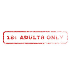 18 plus adults only rubber stamp vector image