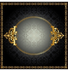 Royal pattern with frame vector