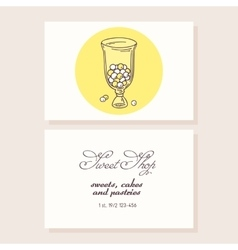 Hand drawn candy bar business card template vector