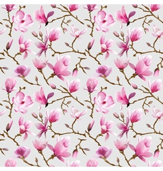 Magnolia flowers background vector