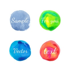 Watercolor circle design elements vector image