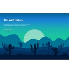 Horizontal banner with wild nature vector image
