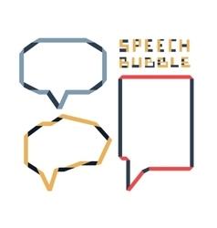 Origami speech bubble set vector image