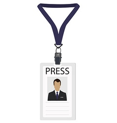 Badge for press vector