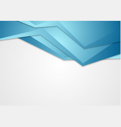 abstract blue corporate tech background vector image vector image