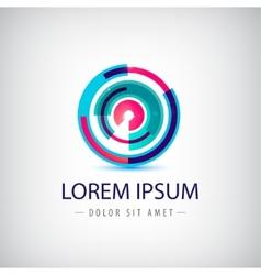 abstract colorful circle loop logo vector image