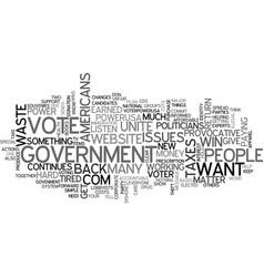 americans in debt text word cloud concept vector image vector image