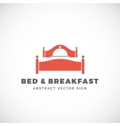 Bed and breakfast abstract sign dish cover vector