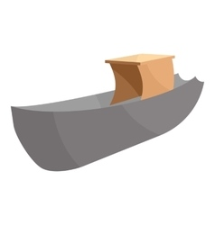 Boat icon cartoon style vector