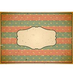 Cardboard vintage frame vector