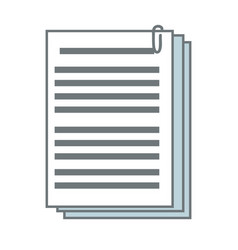 Documents paper file office supplies vector