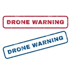 Drone warning rubber stamps vector