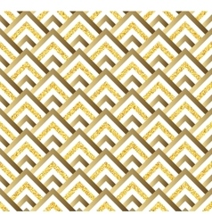 Geometric gold glittering seamless pattern on vector image vector image