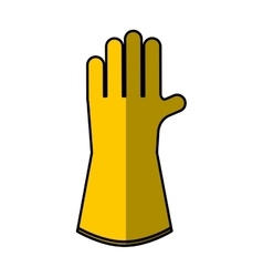 Glove safety isolated icon vector