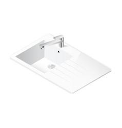 Kitchen sink isometric icon vector image