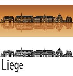 Liege skyline in orange vector image