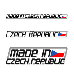 made in czech republic vector image