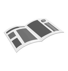 Magazine icon black monochrome style vector