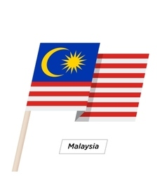 Malaysia ribbon waving flag isolated on white vector