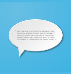 paper flat speech bubble icon for text quote vector image