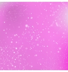 Pink Technology Background with Particle vector image