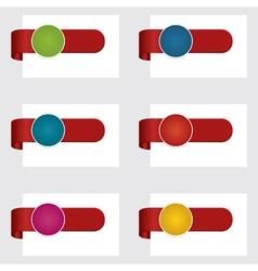 red ribbon tabs vector image