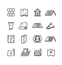 Roof housetop construction materials vector