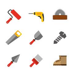 Set tools construction equipment supplies vector