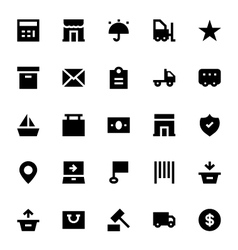 Shipping and Delivery Icons 2 vector image vector image