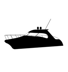 Speedboat flat icon and sign vector