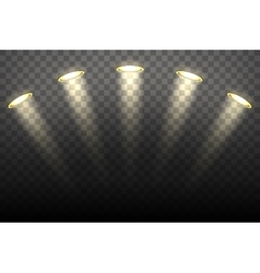Spot lights on transparent background vector image vector image