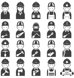 Worker Craftsman Symbol Icons Set vector image