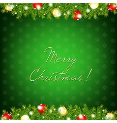 Xmas And Happy New Year Composition vector image vector image