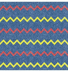 Zig-zag jeans background Seamless pattern vector image vector image