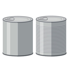 Two aluminum cans without label vector