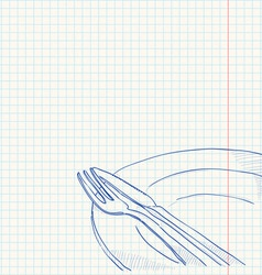 Cutlery Drawing vector image