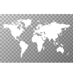 Worldwide map on transparent background vector image