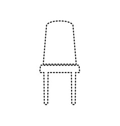office chair sign black dashed icon on vector image