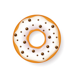 Donut begel with cream cookiescookie cake vector