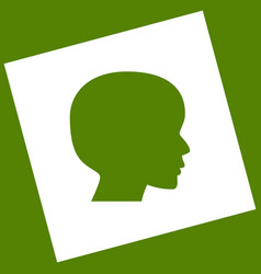 people head sign  white icon obtained as a vector image
