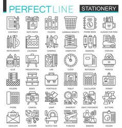 Office stationery outline concept symbols perfect vector