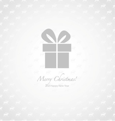 Gray and white paper Christmas background vector image