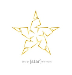 Luxury golden star on white background vector