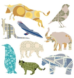 decorative animals vector image