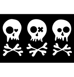 skulls set vector image