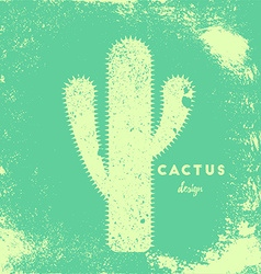 Cactus with needles vector