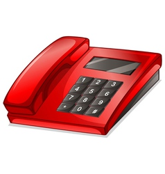 A red telephone vector