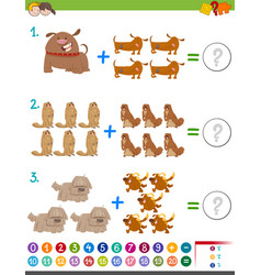 Addition maths activity vector