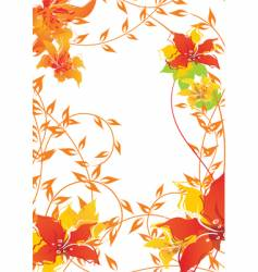 autumn floral frame vector image vector image