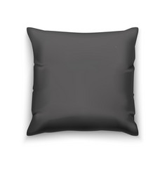 black pillow blank mock up vector image vector image